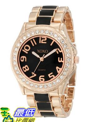 [美國直購 USAShop] XOXO 手錶 Women's XO5473 Rose Gold Tone and Black Epoxy Bracelet Watch $1039