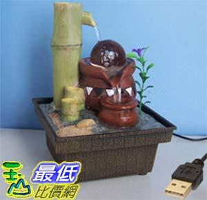[玉山最低比價網] 竹子陶罐水晶球變色燈USB供電迷你小噴泉流水擺飾 dm01  $678