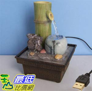 [玉山最低比價網] 竹子陶罐USB供電迷你小噴泉流水擺飾  dm04 $479