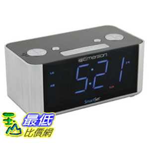 [104 美國直購] Emerson 鬧鐘收音機 CKS1708 Smart Set Radio Alarm Clock $1299