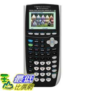 [美國直購] (彩色螢幕) Texas Instruments 84PLSEC/TBL/1L1 TI-84 Plus C Silver Graphing Calculator