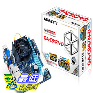 [美國直購 ShopUSA] Gigabyte 主機板 Intel Celeron 847 1.1 GHz Intel NM70 Mini ITX DDR3 1333 Motherboard/CPU/VGA Combo GA-C847N-D by Gigabyte $3659