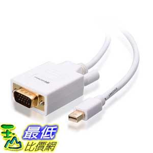 [美國直購 ShopUSA] Cable Matters 電纜 Gold Plated Mini DisplayPort | Thunderbolt to VGA Cable in White 10 Feet   $913