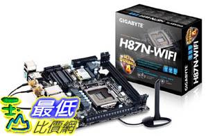 [美國直購 ShopUSA] Gigabyte 主機板 LGA 1150 Intel H87 HDMI SATA 6Gbps USB 3.0 Mini ITX DDR3 1600 Intel Motherboards GA-H87N-WIFI $5255