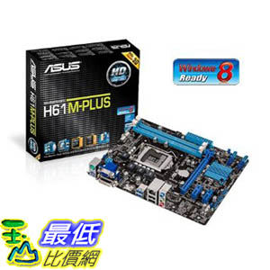 [美國直購 ShopUSA] ASUS 主機板 DDR3 2200 Intel LGA 1155 Motherboard H61M-PLUS $3155