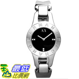 [美國直購 ShopUSA] Armani Exchange 手錶 Women's AX4090 Silver Stainless-Steel Quartz Watch with Black Dial #1681889918 _mr
