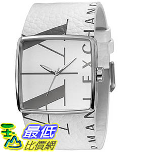 [美國直購 ShopUSA] Armani Exchange 手錶 Women's AX6000 White Leather Analog Quartz Watch with White Dial #1681882578 _mr
