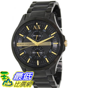 [美國直購 ShopUSA] Armani Exchange 手錶 Men's AX2121 Black Stainless-Steel Quartz Watch with Black Dial #1681890230 _mr