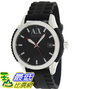 [美國直購 ShopUSA] Armani Exchange 手錶 Men's AX1226 Black Silicone Quartz Watch with Black Dial #1681895116 _mr