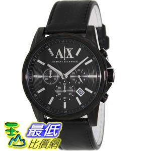[美國直購 ShopUSA] Armani Exchange 手錶 Men's AX2098 Black Leather Quartz Watch with Black Dial #1681890228 _mr
