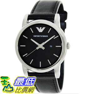 [美國直購 ShopUSA] Emporio Armani 手錶 Women's Classic AR1693 Black Leather Quartz Watch with Black Dial #1681895105 _mr