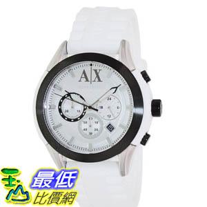 [美國直購 ShopUSA] Armani Exchange 手錶 Men's AX1225 White Silicone Quartz Watch with White Dial #1681892654 _mr