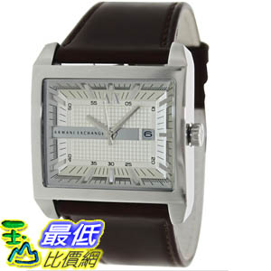 [美國直購 ShopUSA] Armani Exchange 手錶 Men's AX2204 Brown Leather Quartz Watch with Beige Dial #1681897086 _mr