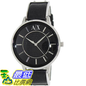 [美國直購 ShopUSA] Armani Exchange 手錶 Women's AX5303 Black Leather Quartz Watch with Black Dial #1681892662 _mr