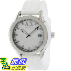 [美國直購 ShopUSA] Armani Exchange 手錶 Men's AX1229 White Silicone Quartz Watch with White Dial #1681895119 _mr