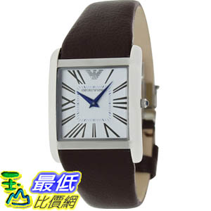 [美國直購 ShopUSA] Emporio Armani 手錶 Men's Classic AR2009 Brown Leather Analog Quartz Watch with Silver Dial #1681894246 _mr