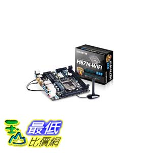 [103美國直購 ShopUSA] Gigabyte 主機板 GA-H87N-WIFI LGA 1150 Intel H87 HDMI SATA 6Gb/s USB 3.0 Mini ITX Intel Motherboard Mini $4803