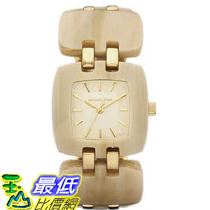 [美國直購 ShopUSA] Michael Kors 手錶 Women's MK4256 Beige Resin Quartz Watch with Gold Dial #1681880793 _mr $6247