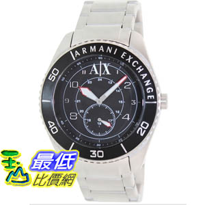 [美國直購 ShopUSA] Armani Exchange 手錶 Men's AX1263 Silver Stainless-Steel Quartz Watch with Black Dial #1681902747 _mr