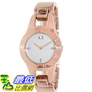 [美國直購 ShopUSA] Armani Exchange 手錶 Women's AX4091 Rose-Gold Stainless-Steel Quartz Watch with Silver Dial #1681890475 _mr