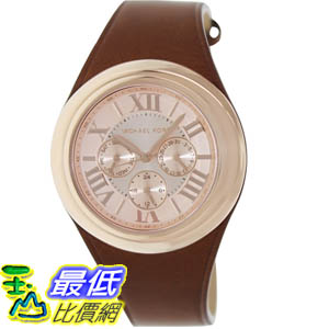 [美國直購 ShopUSA] MICHAEL KORS 手錶 Men's Camille MK2313 Brown Leather Quartz Watch with Rose-Gold Dial #1681898800 _mr $6655