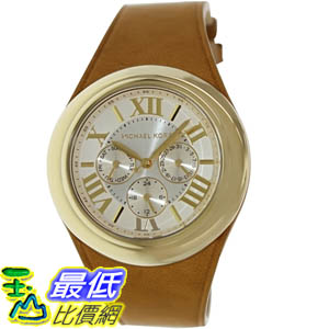 [美國直購 ShopUSA]  MICHAEL KORS 手錶 Men's Camille MK2312 Brown Leather Quartz Watch with Gold Dial #1681898799_mr $6550