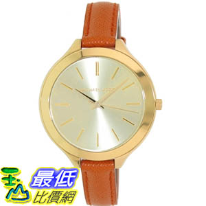 [美國直購 ShopUSA] Michael Kors 手錶 Women's Runway MK2275 Orange Leather Analog Quartz Watch with Gold Dial #1681891861 _mr $4630