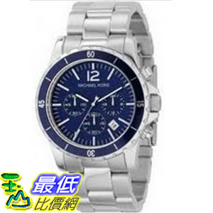 [美國直購 ShopUSA] Michael Kors 手錶 Men's MK8123 Silver Stainless-Steel Quartz Watch with Blue Dial #1681870429 _mr $7043