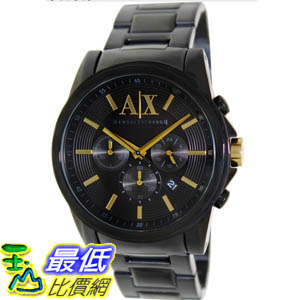 [美國直購 ShopUSA] Armani Exchange 手錶 Men's AX2094 Black Stainless-Steel Quartz Watch with Black Dial #1681888586 _mr