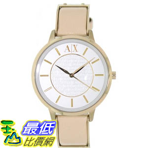 [美國直購 ShopUSA] Armani Exchange 手錶 Women's AX5301 Beige Leather Quartz Watch with White Dial #1681892661 _mr