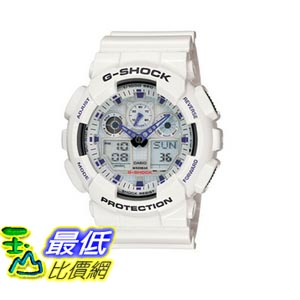 [103美國直購] Casio 手錶 White and Blue Men's GA100A-7 G-Shock X-Large Analog-Digital  Sports Watch
