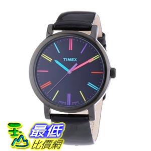 [103美國直購] Timex 手錶 Black Heritage Easy Reader  Leather Strap Unisex Watch T2N790