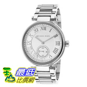 [103美國直購] Michael Kors 手錶 Skylar Silvertone Stainless Steel Two-Hand Bracelet Watch - Silver MK5866 $7315