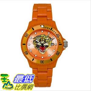 [103 美國直購] ED 中性手錶 HARDY WATCH UNISEX VP2 OPEN MOUTH TIGER VP2-OR ORANGE DIAL $1777