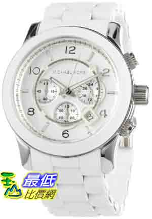 [美國直購 ShopUSA] MichaelKors 手錶 Men's MK8108 Oversize White Silicone Runway Watch