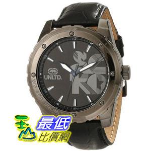 """[104美國直購] Marc Ecko Men's E12551G1 """"The Riff"""" Gunmetal Stainless Steel and Black Leather Watch"""