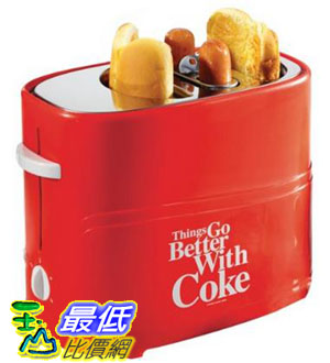 [104美國直購] 烤麵包機 熱狗機 Nostalgia Electrics Coca Cola Series HDT600COKE Pop-Up Hot Dog Toaster $1398