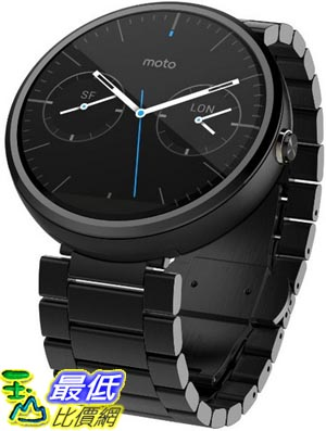 [104美國直購] Motorola 手表 00420NARTL Moto 360 - Dark Metal 23mm Smart Watch $