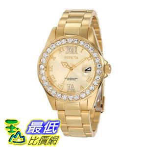 [104美國直購] 女士手錶 Invicta Women's 15252 Pro Diver Gold Dial Gold plated Stainless Steel Watch