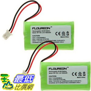 [104美國直購] 鎳氫電池 2X FLOUREON Ni-MH 1800mAh Battery for Sony NTM-910 NTM910 NTM-910YLW Sony Baby Call Nursery Monitor