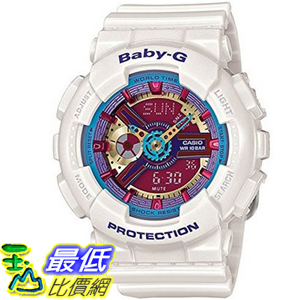 [104美國直購] 凱西歐 嬰兒 G 手錶 Casio Baby G Street Fashion Neon Color White BA112-7A