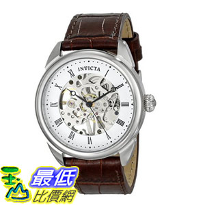 [104美國直購] 男士手錶 Invicta Men's 17185 Specialty Analog Display Mechanical Hand Wind Brown Watch