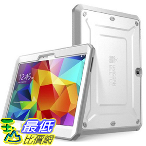 [104美國直購] SUPCASE 保護殼 TPU+PC Samsung Galaxy Tab 4 10.1 Unicorn Beetle PRO Series Full-body Rugged Hybrid Protective Cover Built-in Screen Protector