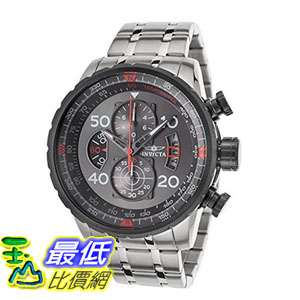 [104美國直購] 男士手錶 Invicta Men's 17204 AVIATOR Stainless Steel Casual Watch