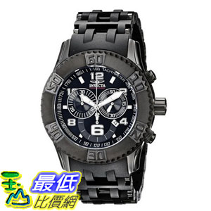 [104美國直購] 男士手錶 Invicta Men's 6713 Sea Spider Collection Chronograph Black Ion-Plated Watch