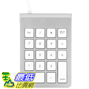 [104美國直購] 數字鍵盤 搭配 Apple Keyboard  ST-2UNK Satechi Aluminum Finish USB Numeric Keypad for iMacs and MacBooks