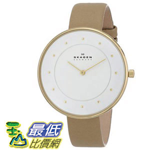 [104美國直購] Skagen 女士手錶 Women's SKW2137 Gitte Quartz 2 Hand Stainless Steel Light Brown Watch $3391
