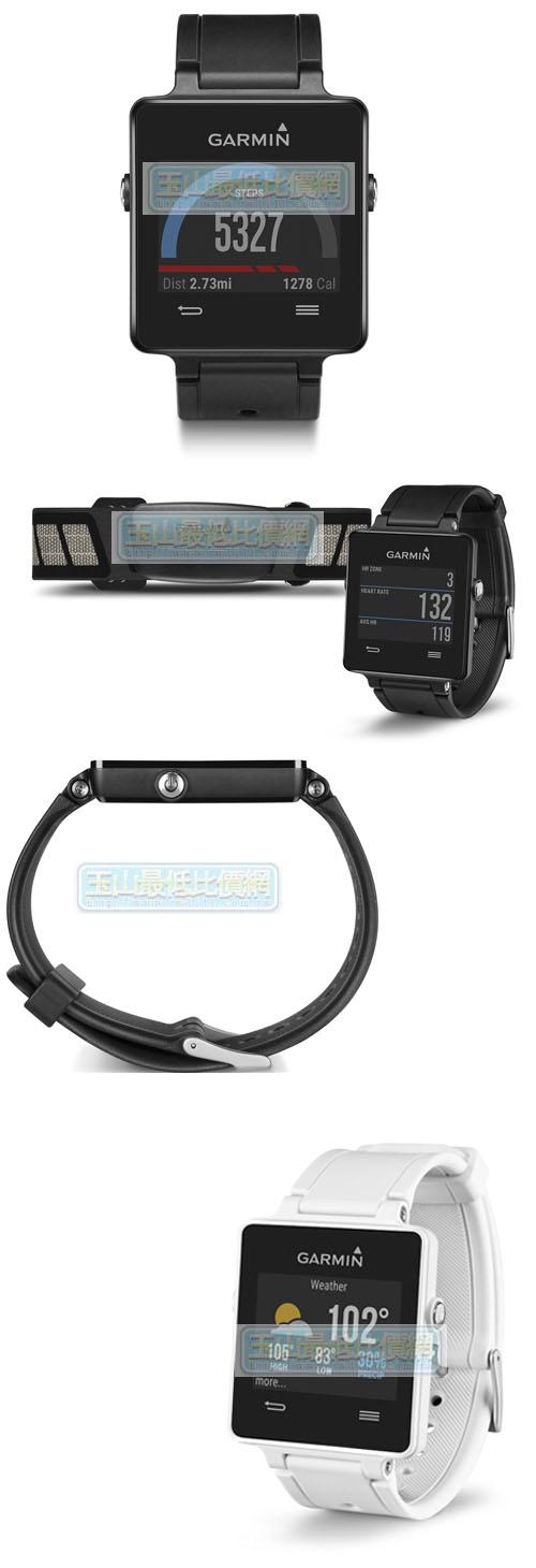 [104美國直購] Garmin Vivoactive 黑/白色 bundle (Includes Heart Rate Monitor)