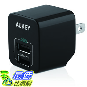 [104美國直購] Aukey (PA-U32) 12W / 2.4A Home Travel USB Wall Charger Adapter 充電器