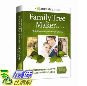 [103美國直購] Family Tree Maker Deluxe CD-ROM 家譜製作 $2805
